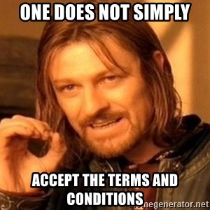 One Does Not Simply - one does not simply accept the terms and conditions