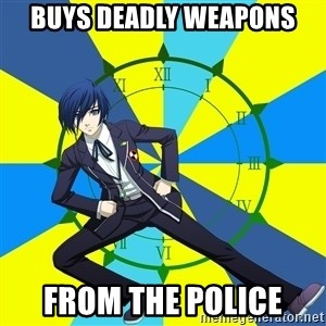 Minato Persona 3 - Buys deadly weapons From the police