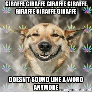 Stoner Dog - giraffe giraffe giraffe giraffe giraffe giraffe giraffe doesn't sound like a word anymore