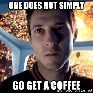 Rory Williams - One Does not simply Go get a coffee