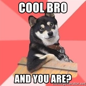 Cool Dog - cool bro and you are?