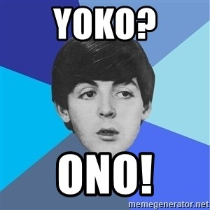 Paul Mccartney - yoko? onO!