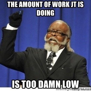 The tolerance is to damn high! - the amount of work jt is doing is too damn low