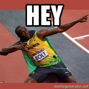 USAIN BOLT POINTING - Hey