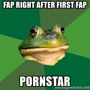 Foul Bachelor Frog - fap right after first fap pornstar