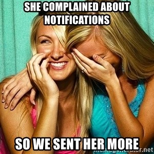 Laughing Whores - She complained about notifications So we sent her more