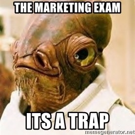 Its A Trap - The marketing exam its a Trap