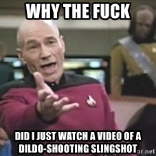 Picard Wtf - why the fuck did i just watch a video of a dildo-shooting slingshot