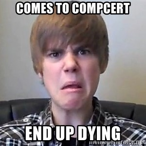 Justin Bieber 213 - Comes to Compcert End up Dying