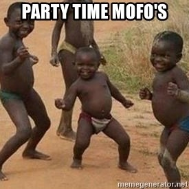 african children dancing - party time mofo's