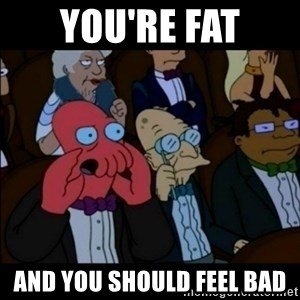And You Should Feel Bad - you're fat and you should feel bad