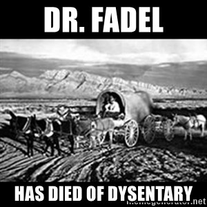 Oregon Trail Vindictus - Dr. FadeL Has died of dysentary
