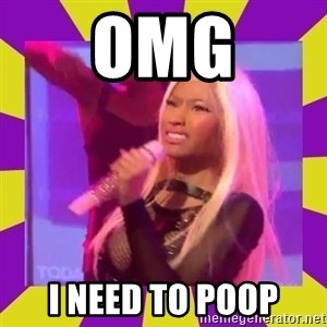 Nicki Minaj Constipation Face - OMG I need to poop