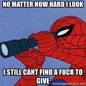 Spiderman Lunar Eclipse - no matter how hard i look i still cant find a fuck to give