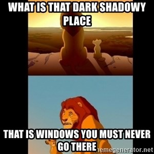 Lion King Shadowy Place - WHAT IS THAT DARK SHADOWY PLACE THAT IS WINDOWS YOU MUST NEVER GO THERE