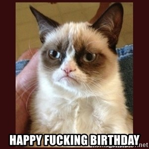 Tard the Grumpy Cat - Happy fucking birthday