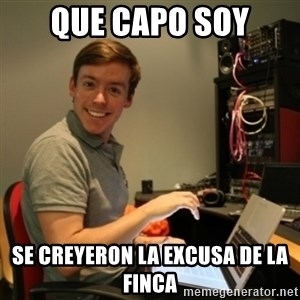 Ridiculously Photogenic Journalist - que capo soy se creyeron la excusa de la finca