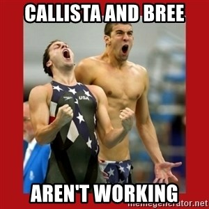 Ecstatic Michael Phelps - callista and bree aren't working