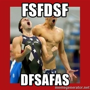 Ecstatic Michael Phelps - fsfdsf dfsafas