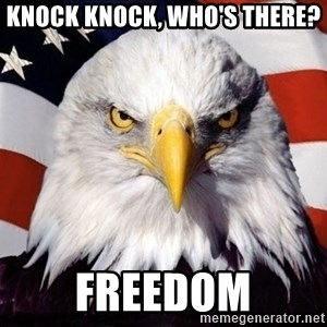 American Pride Eagle - Knock Knock, who's there? Freedom