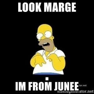 Homer Look Marge  - look marge im from junee