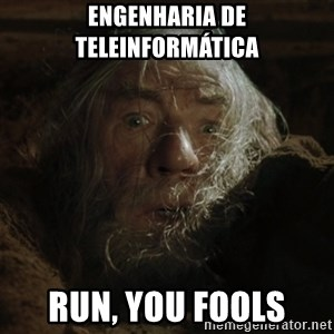 gandalf run you fools closeup - Engenharia de teleinformática RUN, YOU FOOLS