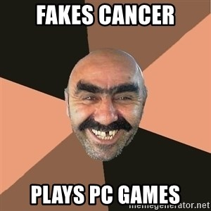 Provincial Man - fakes cancer PLAYS PC GAMES