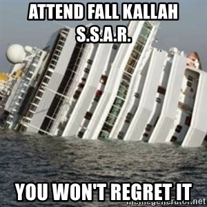 Sunk Cruise Ship - attend fall kallah s.s.a.r.  you won't regret it