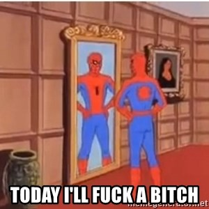 Spiderman Mirror - TODAY I'LL FUCK A BITCH