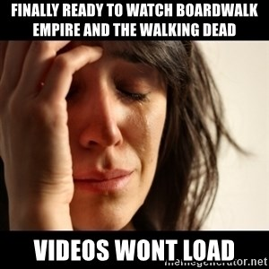 crying girl sad - Finally ready to watch Boardwalk empire and the walking dead videos wont load
