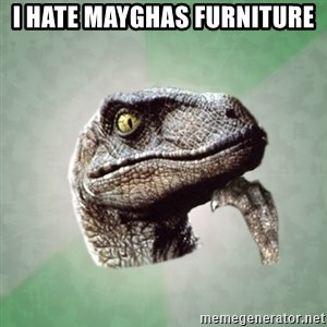Philosoraptor - I hate mayghas furniture