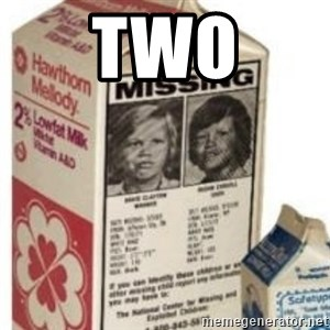 Big Milk Carton - two