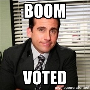Michael Scott - Boom Voted