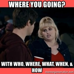Doubtful Fat Amy  - where you going? With who, where, what, when, & How