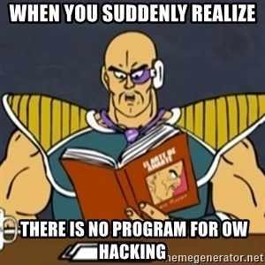 El Arte de Amarte por Nappa - When YOU Suddenly REALIZE  there is no program for ow hacking