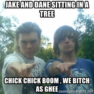 god of punk rock - JAKE AND DANE SITTING IN A TREE CHICK CHICK BOOM , WE BITCH AS GHEE