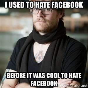 hipster Barista - i used to hate facebook before it was cool to hate facebook