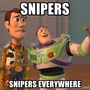 ORIGINAL TOY STORY - snipers snipers everywhere