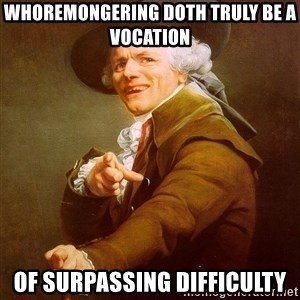Joseph Ducreux - whoremongering doth truly be a vocation of surpassing difficulty