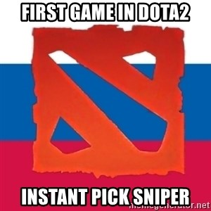 Dota2 Russian - first game in dota2 instant pick sniper