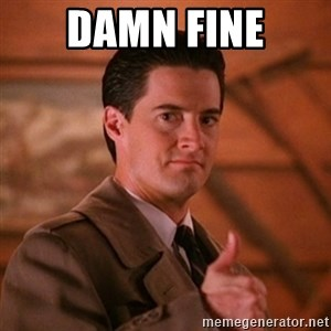 Thumbs-up Agent Dale Cooper  - DAMN FINE