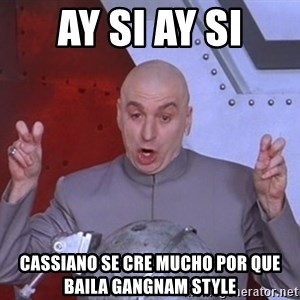 Dr. Evil Air Quotes - ay si ay si cassiano se cre mucho por que baila gangnam style