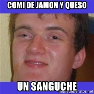 rally drunk guy - COMI DE JAMON Y QUESO UN SANGUCHE