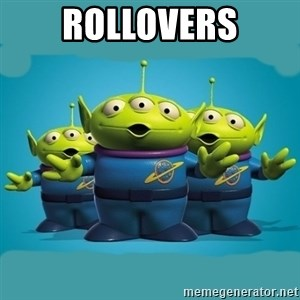 Toy story aliens - ROLLOVERS