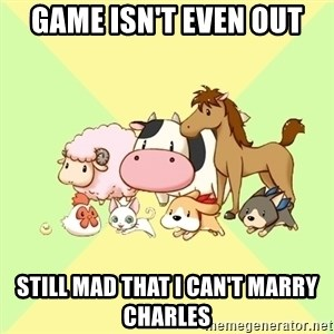 Harvest Moon - Game isn't even out still mad that i can't marry charles