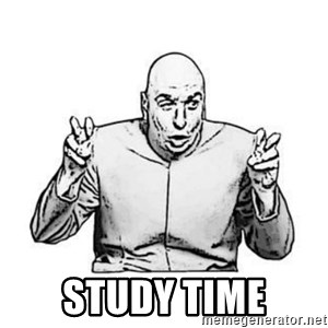 Sceptical Dr. Evil - study time