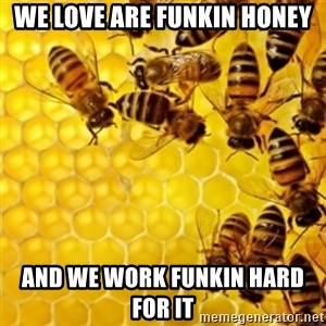 Honeybees - WE LOVE ARE FUNKIN HONEY AND WE WORK FUNKIN HARD FOR IT