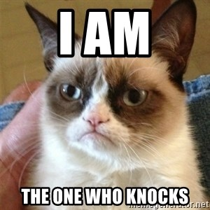 Grumpy Cat  - i am the one who knocks