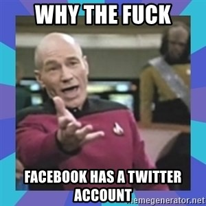 what  the fuck is this shit? - WHY THE FUCK FACEBOOK HAS A TWITTER ACCOUNT
