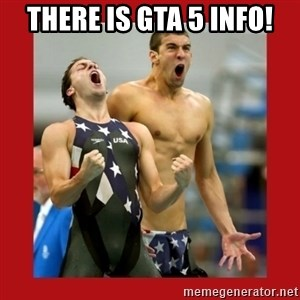 Ecstatic Michael Phelps - THERE IS GTA 5 INFO!